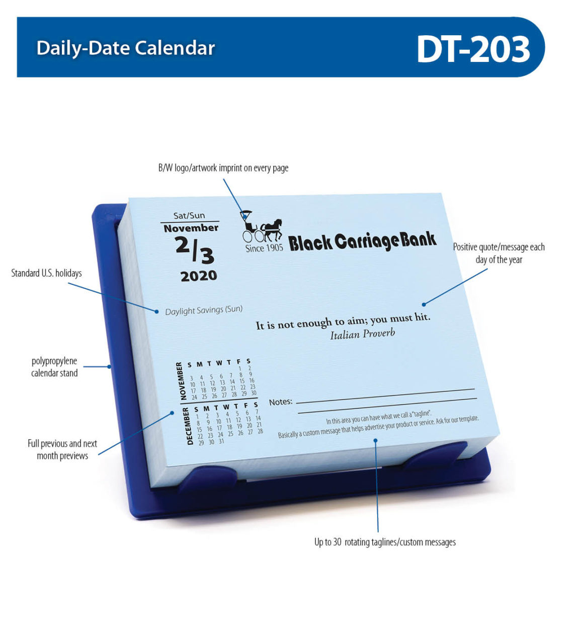 Dt203 inside Calendarsquick 5 Day