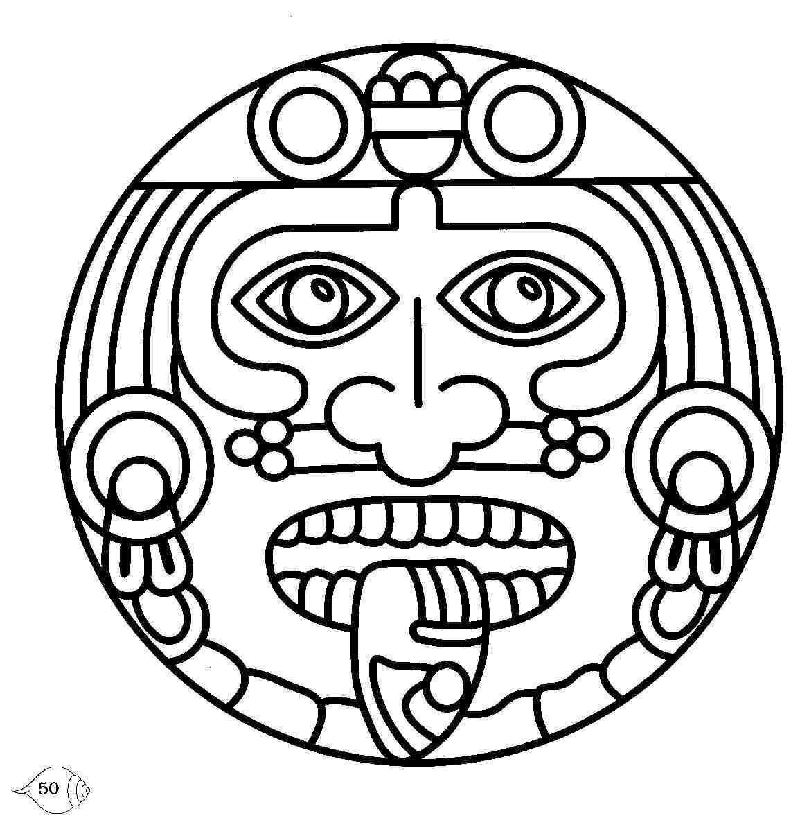 Early Play Templates – Free Printables | Aztec Symbols intended for Aztec Mask Template