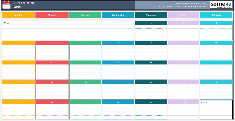 Excel Calendar Template 2020  Free Printable Calendar regarding 3 Month Calendar Template Excel