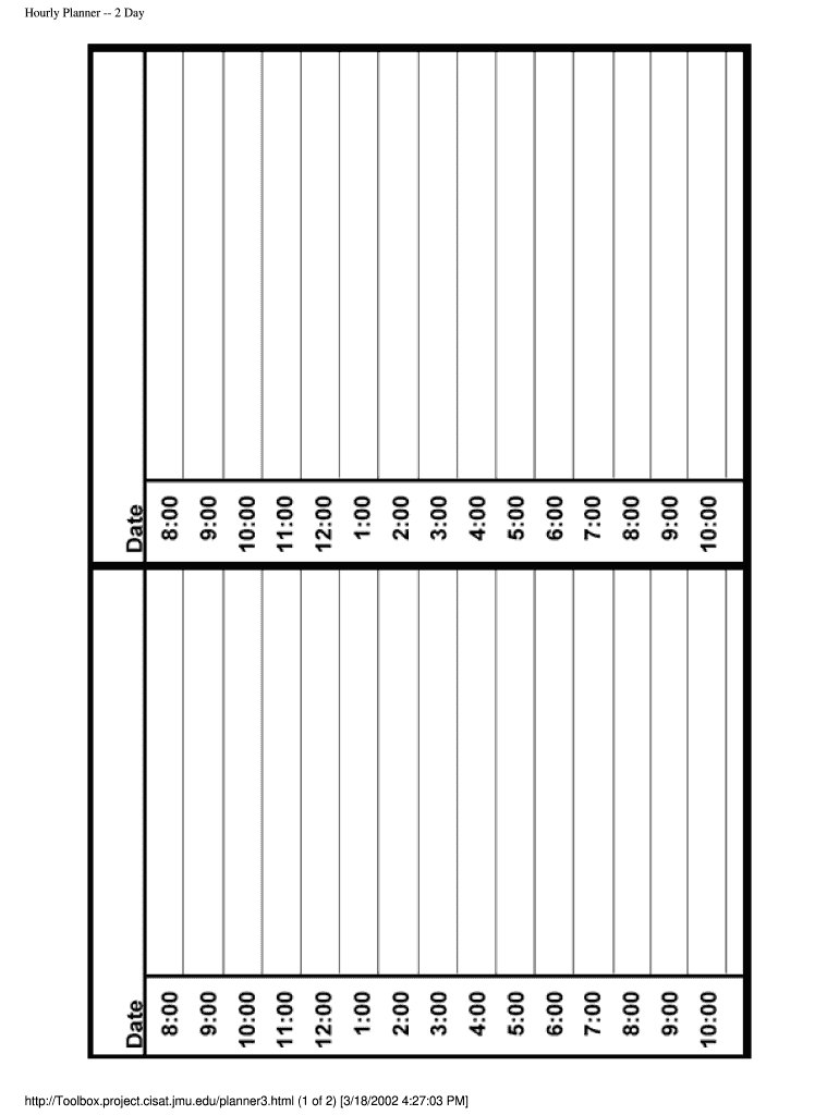 Fillable Schedule  Fill Online, Printable, Fillable, Blank inside Free Printable Hourly Calendar