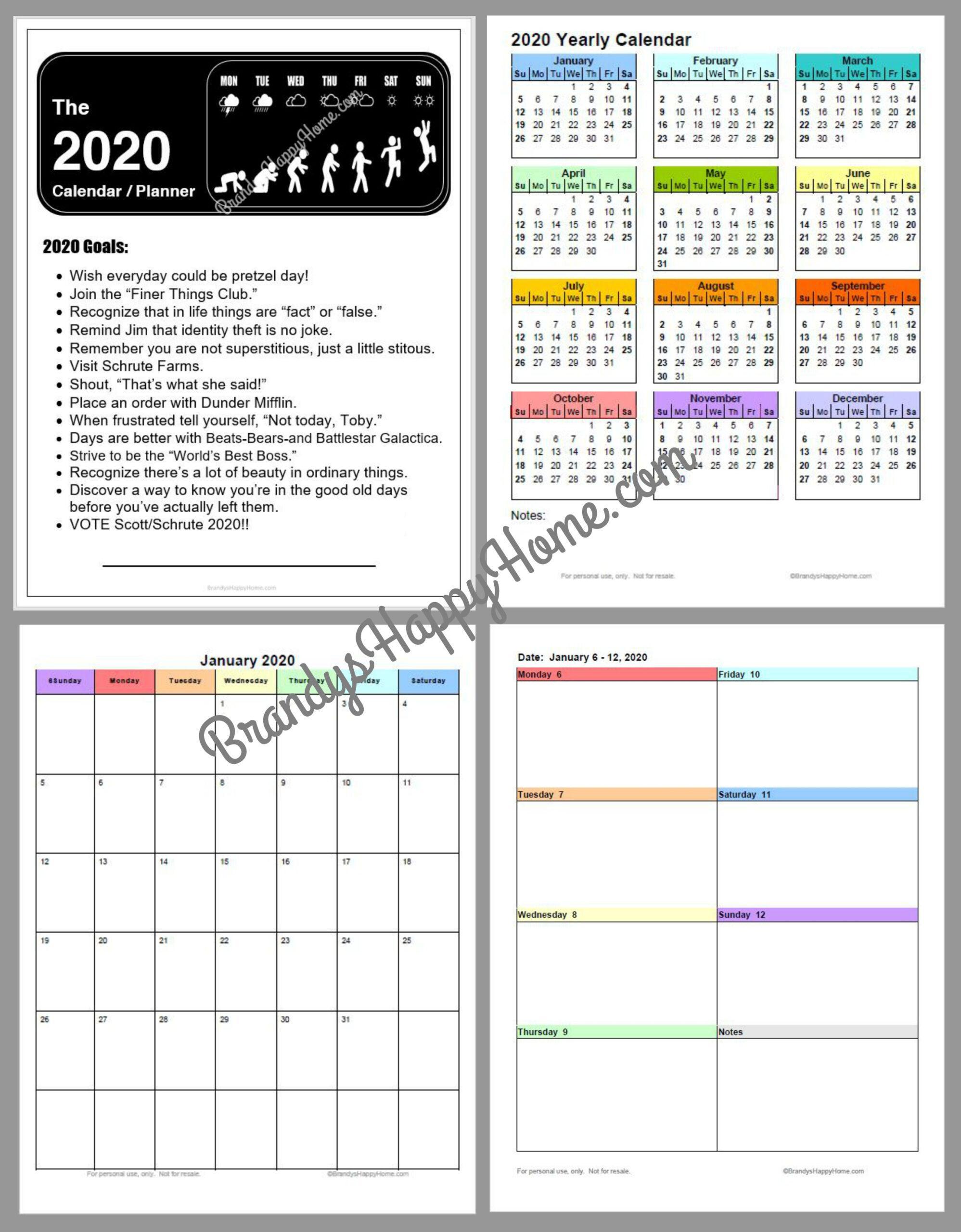 Free 2020 Diy Calendar Planner Printables in 3 Week Blank Calendar