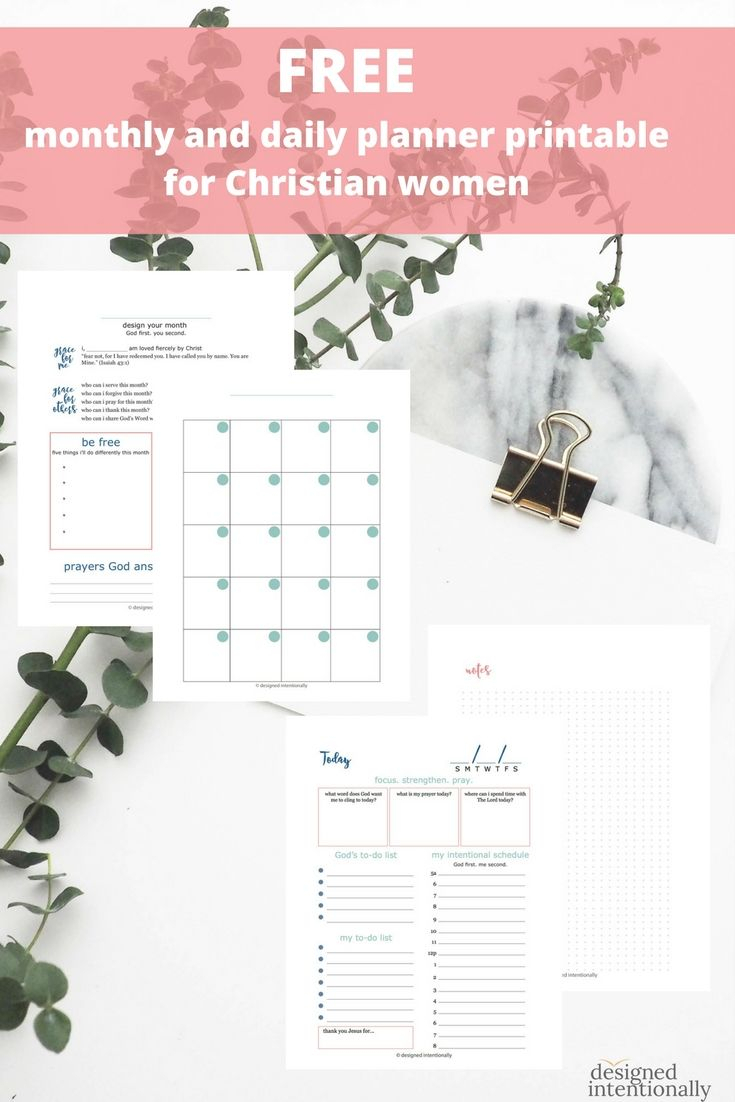 Free Christian Monthly And Daily Planner Printable From with regard to Catholic Daily Planner