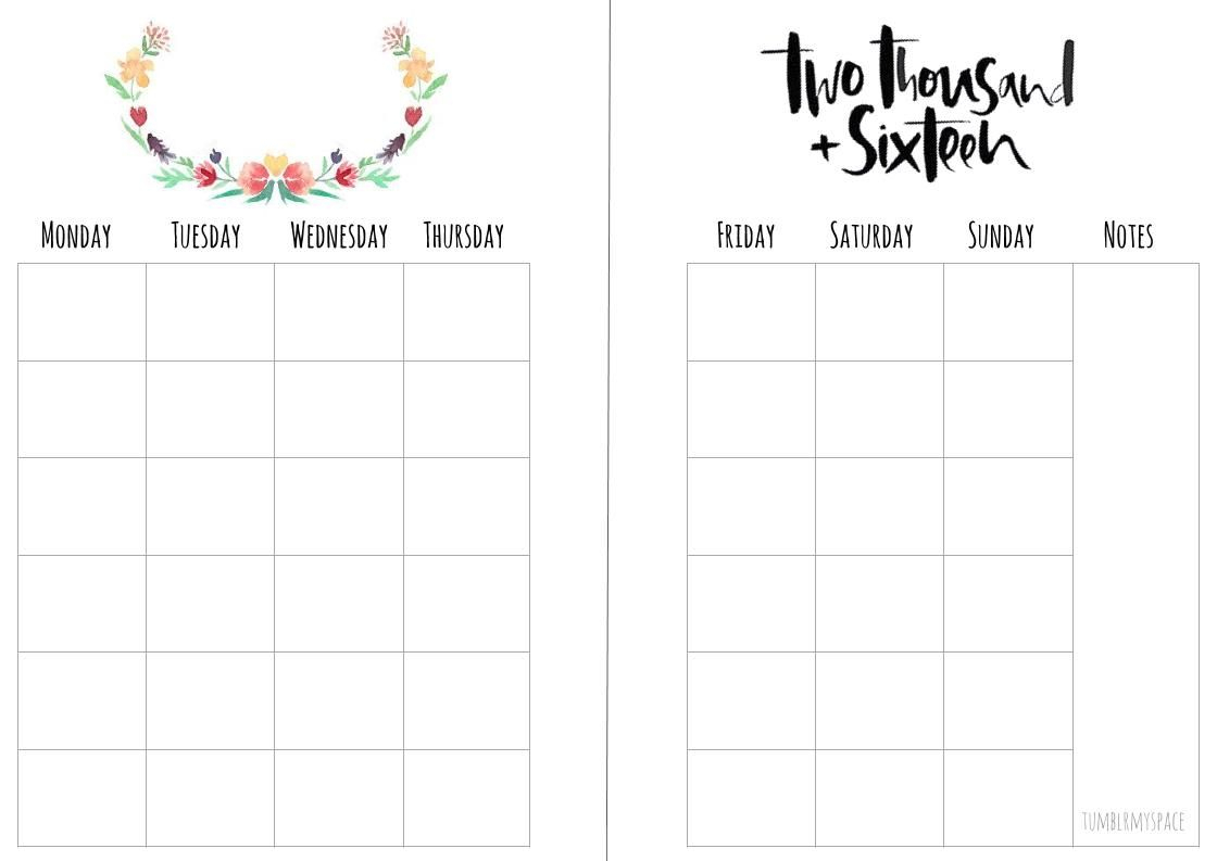 Free Monthly A5 Planner Insert Printables  Download From My intended for Free Planner Refills Printable