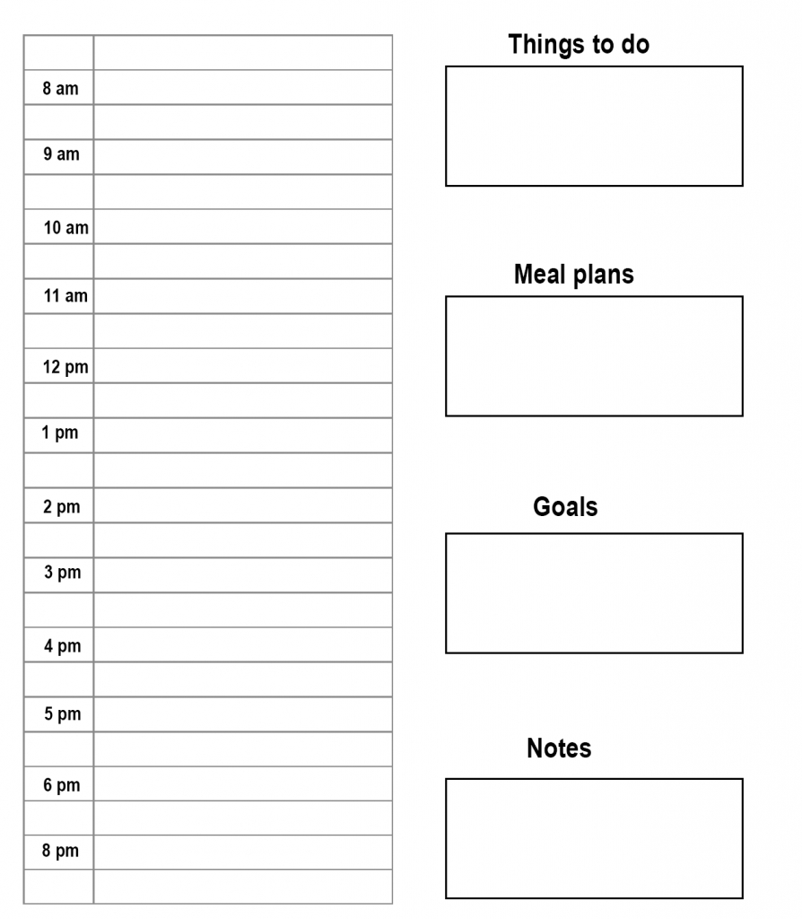 Free Printable Daily Planner Template In Pdf, Word & Excel pertaining to Free Printable Daily Planner With Time Slots