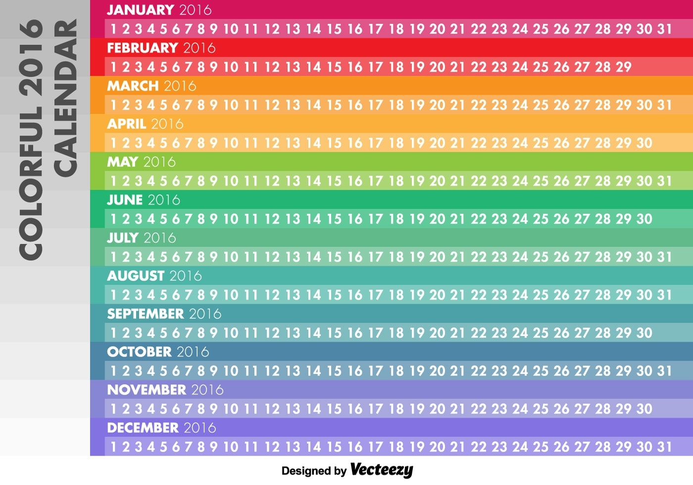 Free Printable Linear Calendar | Ten Free Printable with Linear Calendar Template