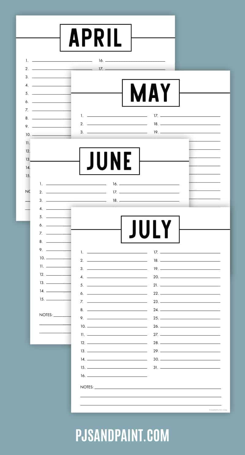 Free Printable Perpetual Calendar  Printable Birthday Calendar within Free Perpetual Calendar Printable