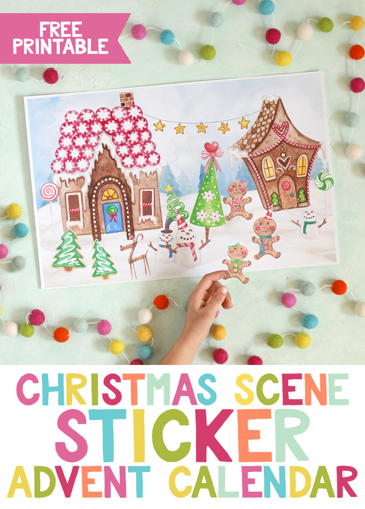 Free Printable Sticker Advent Calendar  The Craft Patch inside Holiday Stickers For Calendars