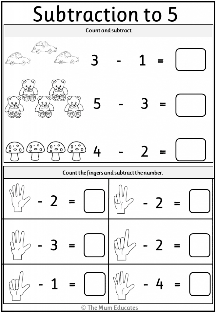 Free Subtraction Worksheets  Year 1  Year 2  The Mum intended for Hebrew Calendar Worksheets And How To Make One
