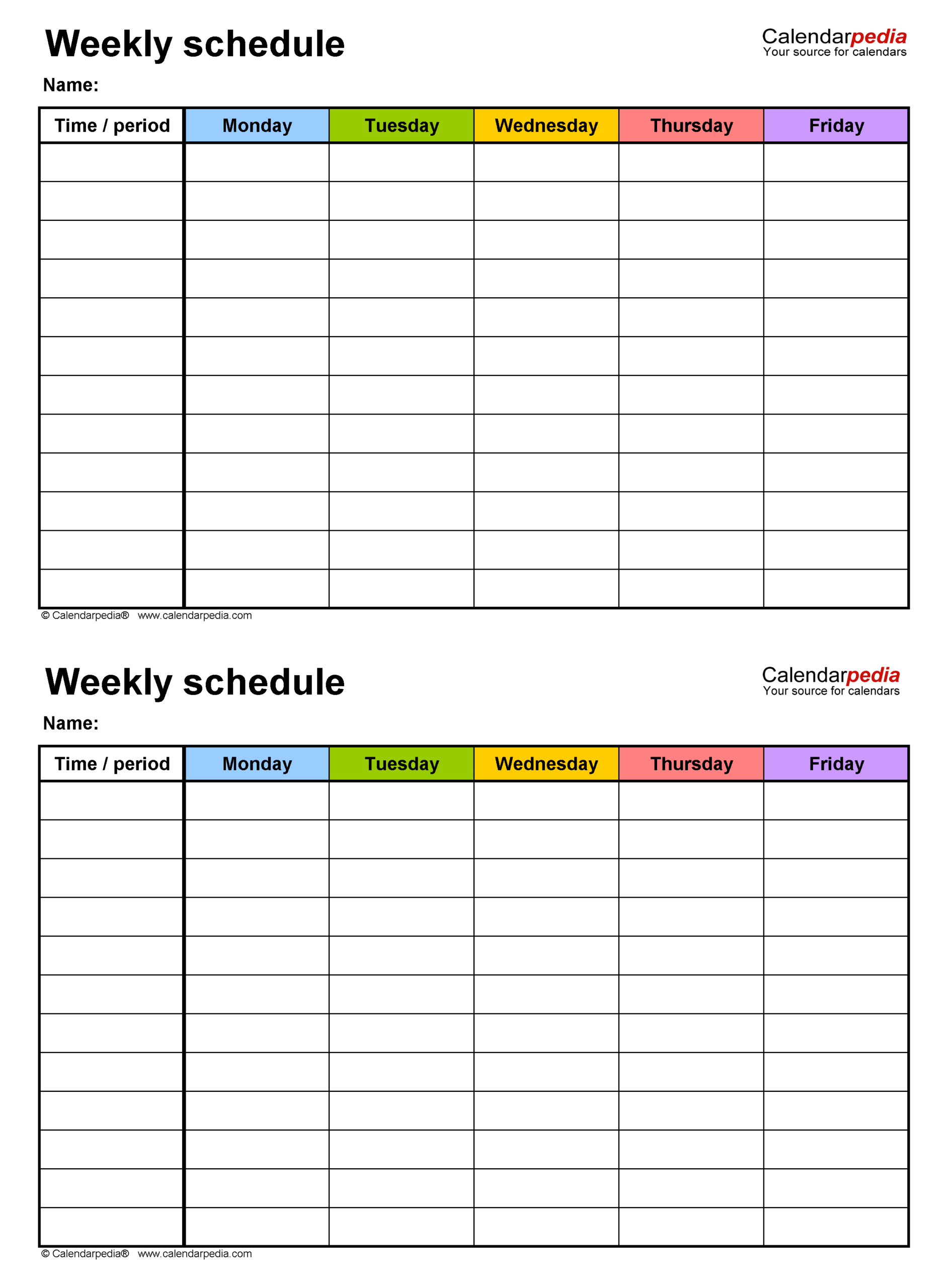 Free Weekly Schedule Templates For Word  18 Templates in 3 Week Blank Calendar