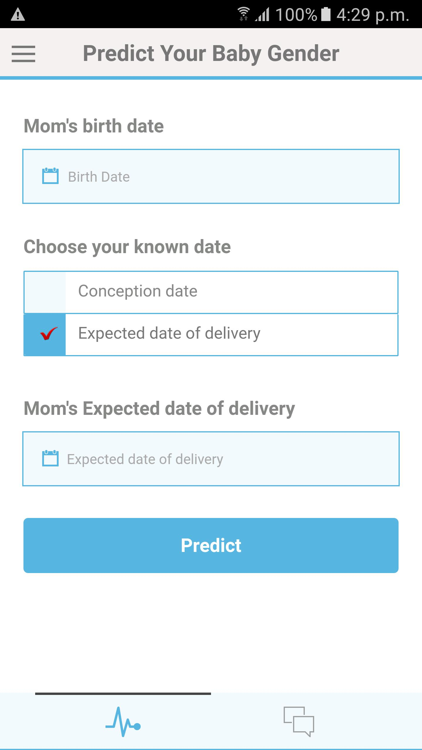 Gender Predictor  Predict Baby Gender Boy R Girl For inside Mayan Gender Prediction