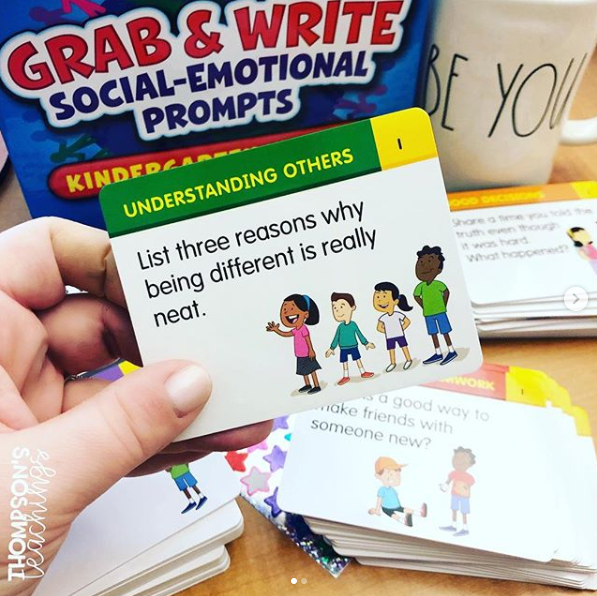 Grab & Write Socialemotional Prompts  Kgr. 2 | Social intended for Lakeshore Learning Writing Prompts