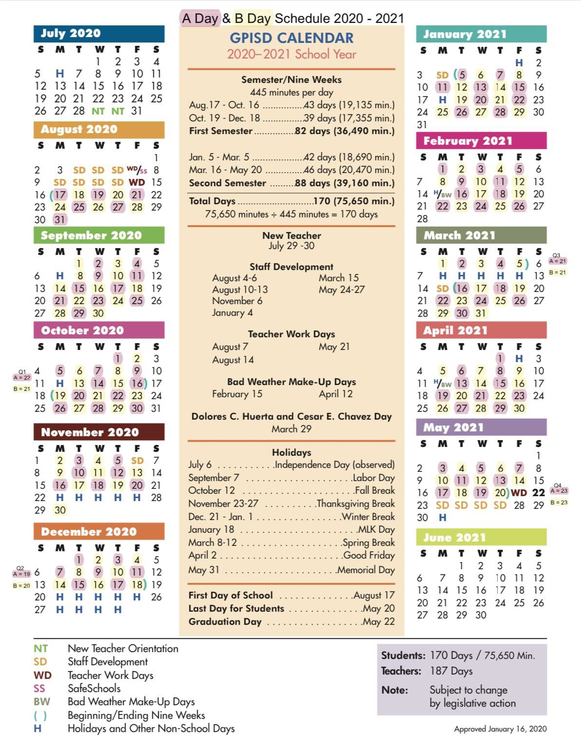 Grand Prairie High School  Homepage in Sfasu School Calendar