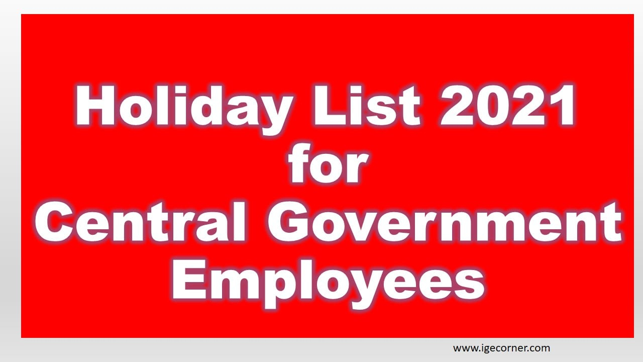 Holiday List 2021 For Central Government Employees in Bihar Government Holiday Calendar