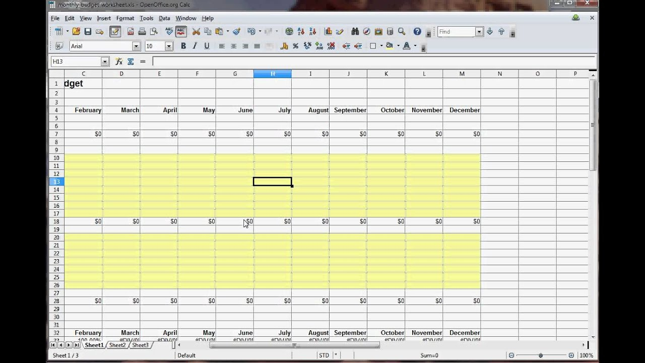 How To Create A Monthly Budget Worksheet throughout Monthly Bills Worksheet