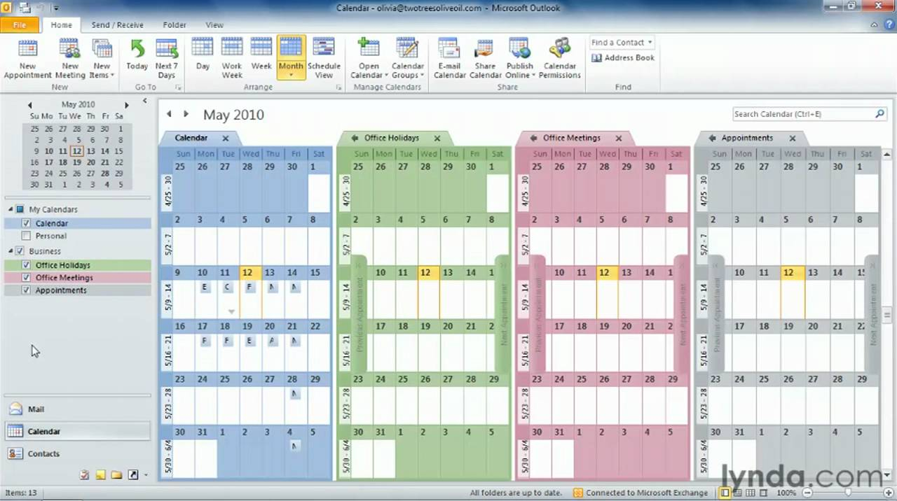 How To Create And Use Multiple Calendars In Microsoft intended for Conditional Formatting Outlook Calendar