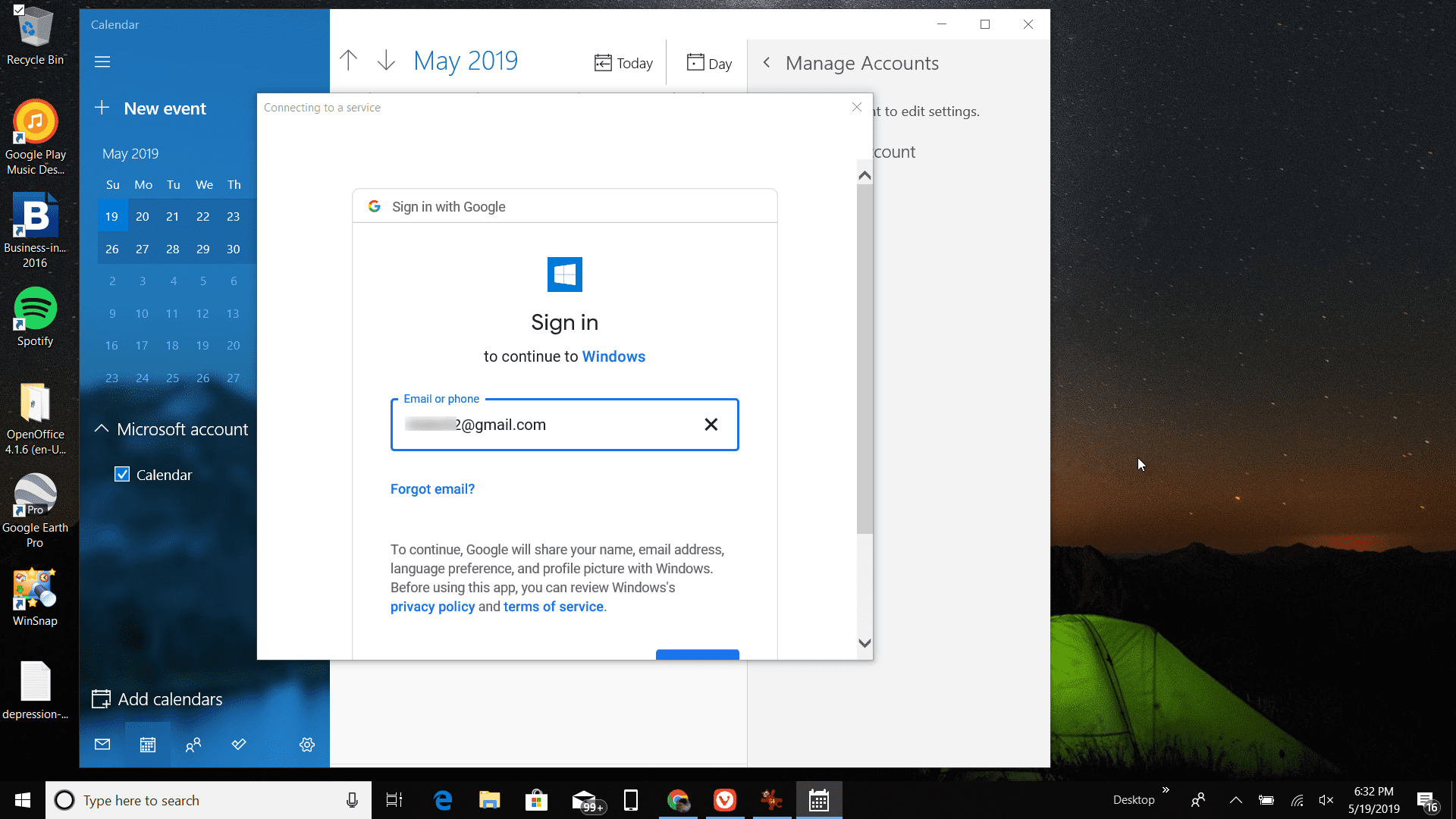 How To Get Google Calendar On Your Windows Desktop inside Calendar Widget For Windows 10
