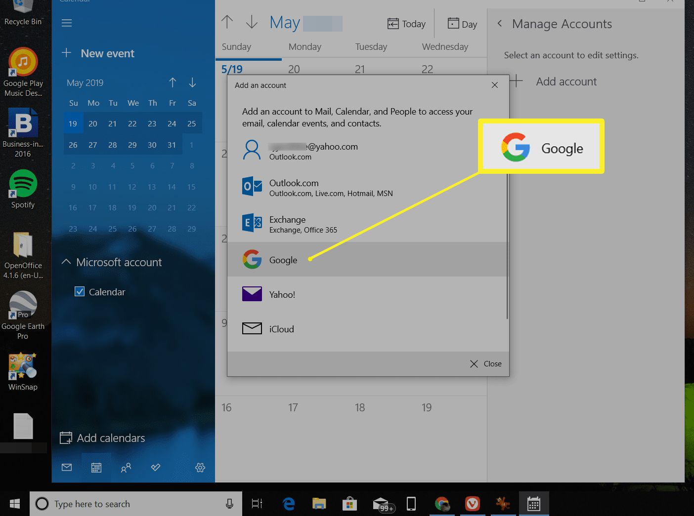 How To Get Google Calendar On Your Windows Desktop pertaining to Calendar Widget For Windows 10