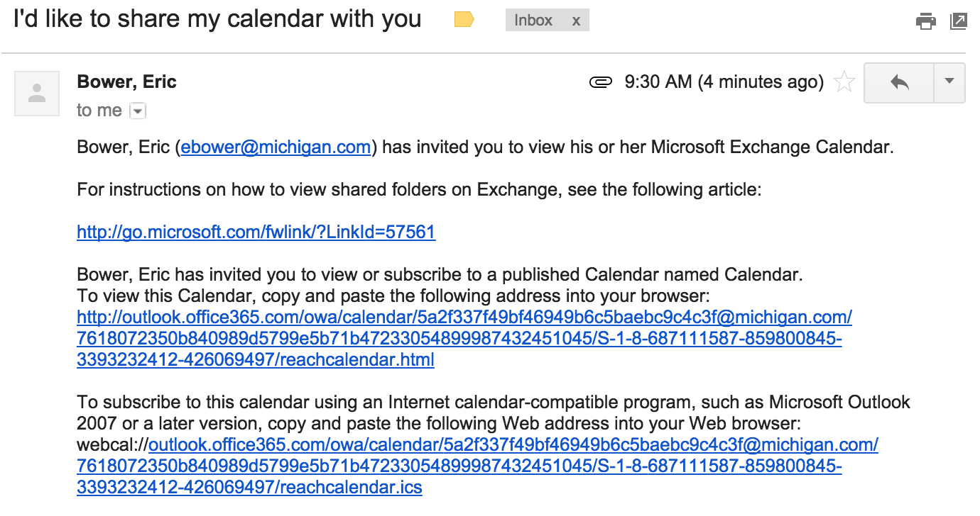 How To Share Outlook Office365'S Calendar With Google within Sharing Metadata Xml Outlook Calendar
