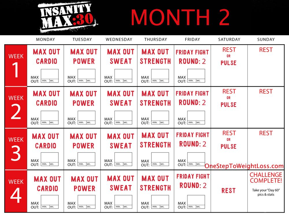 Insanity Max 30 Results & Review: Insanity 2 Worthy with Insanity Max 30 Hybrid Calendar