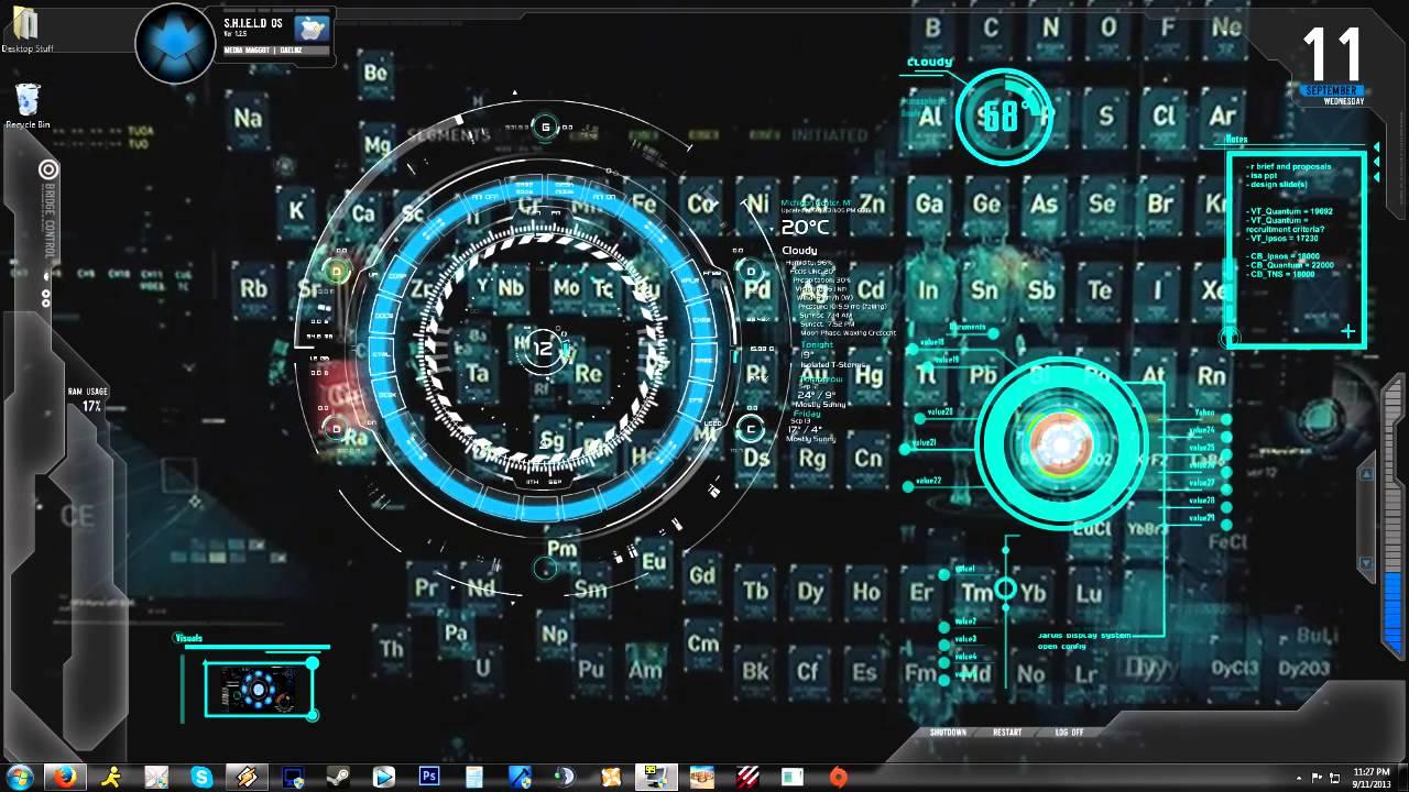 (Iron Man) Jarvis 1.0 Animated Backgrounddesktop  Youtube for Interactive Excel Desktop Background