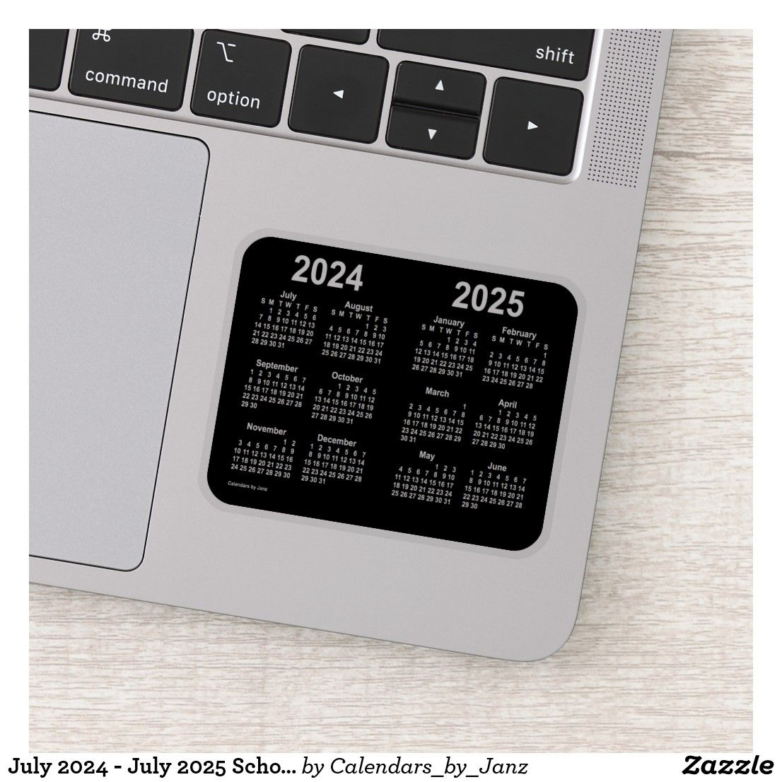 July 2024  July 2025 School Year Calendar By Janz Sticker with Holiday Stickers For Calendars