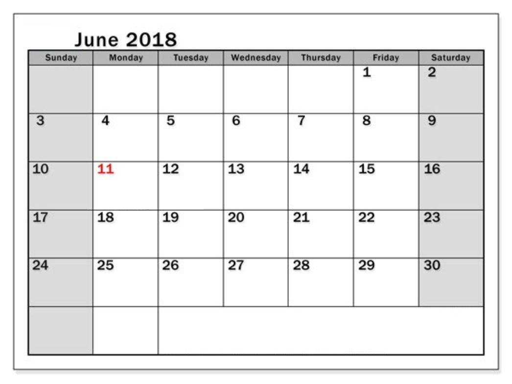 June 2018 Waterproof Calendar | 2019 Calendar, Calendar in Calendars Michel Zbinden