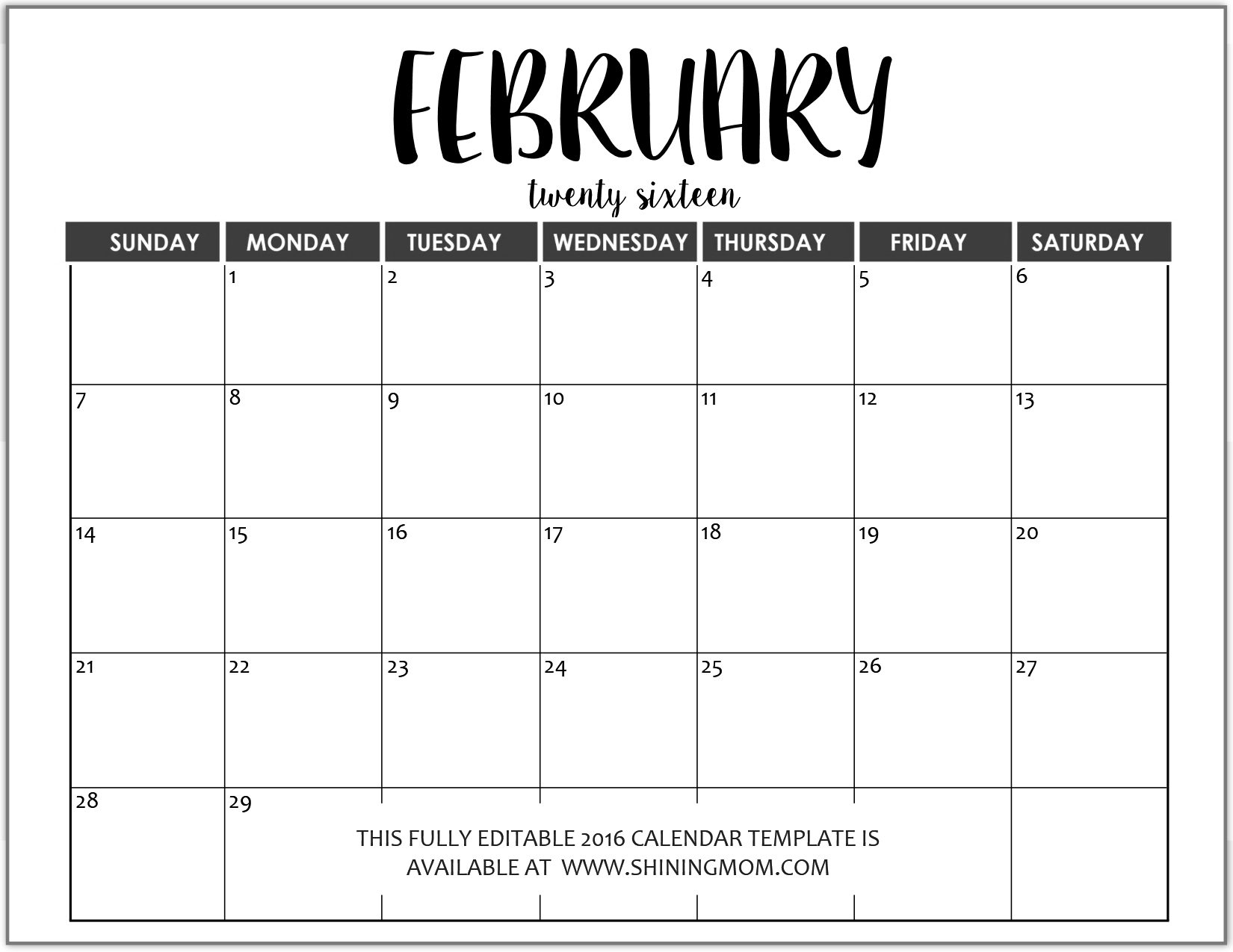 Just In: Fully Editable 2016 Calendar Templates In Ms Word for Microsoft Word Templates Calendar