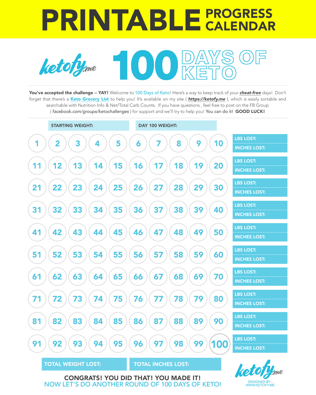Keto ~ Fy Me | Cut Carbs, Not Flavor! • 100 Days Of Keto throughout 100 Days Of Keto Calendar