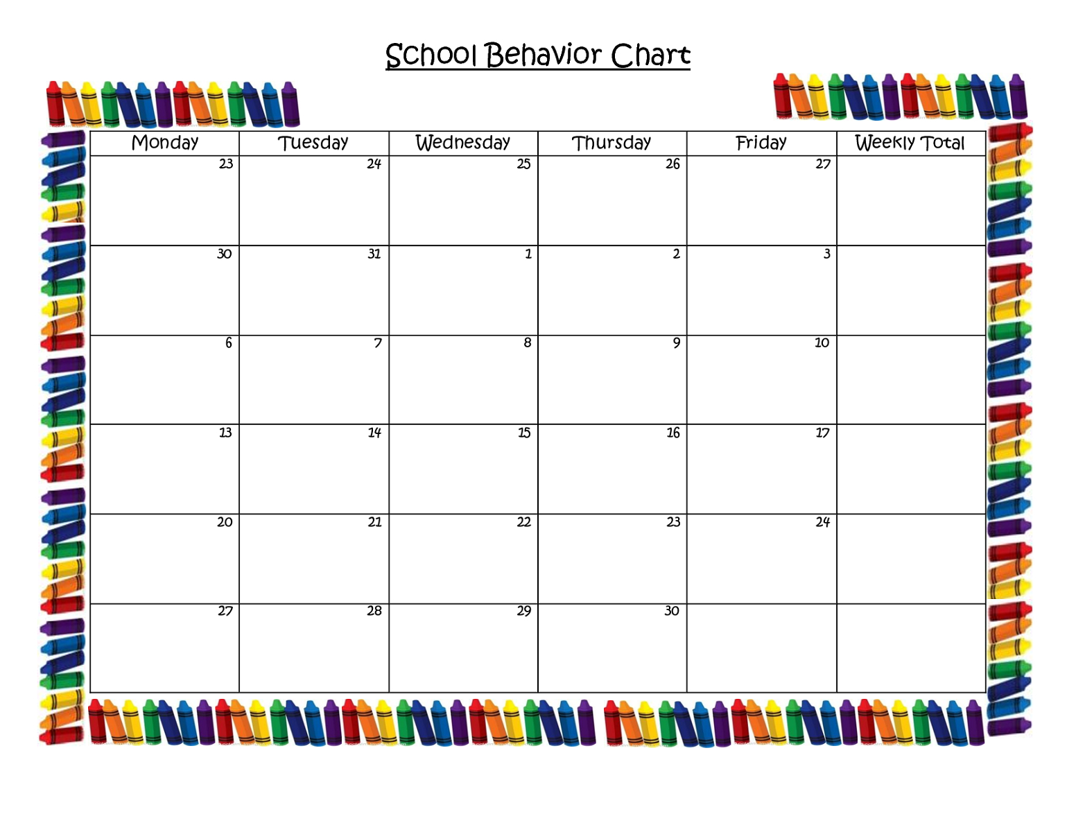 Kid'S Behavior Charts In 2020 | Behaviour Chart, School pertaining to Monthly Behavior Chart