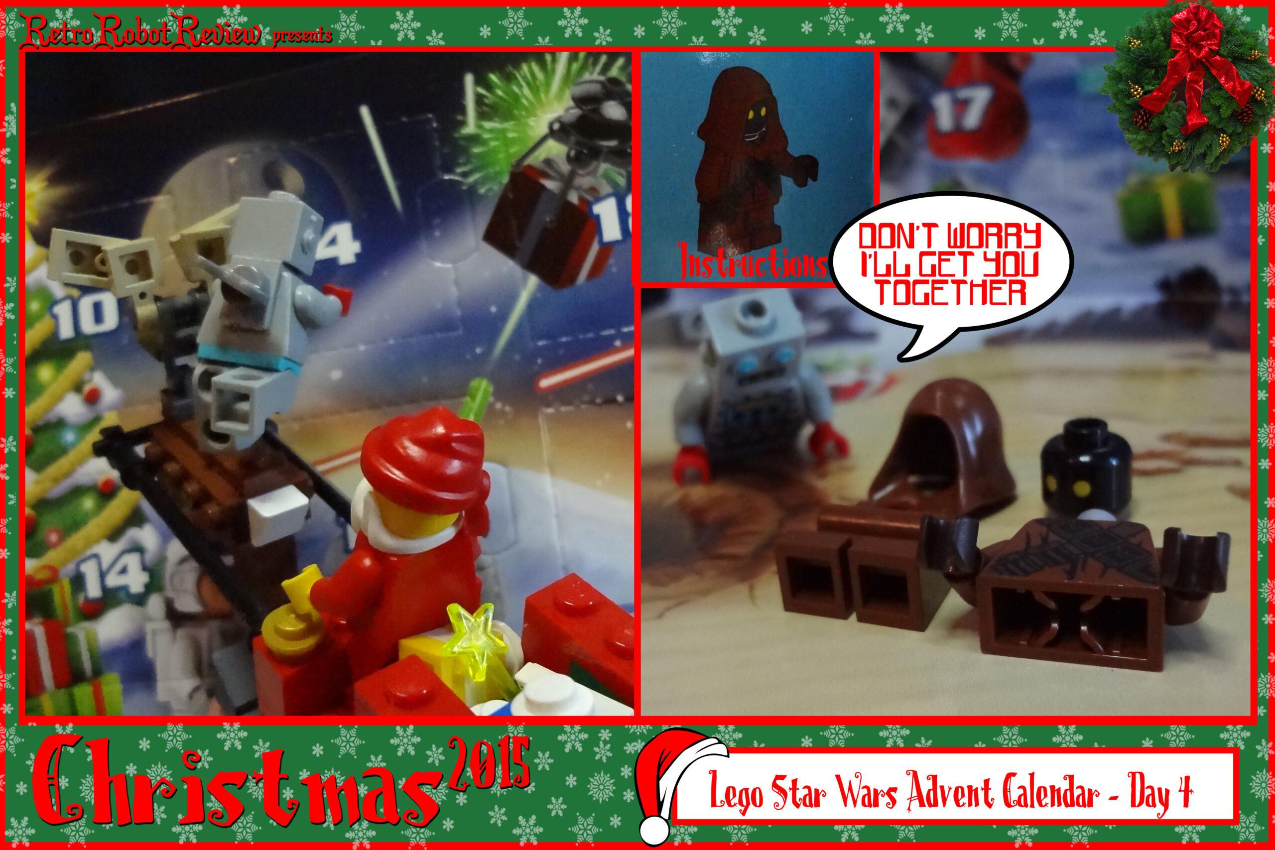Lego Star Wars Advent Calendar  Day 4 with Lego Star Wars Advent Calendar Instructions