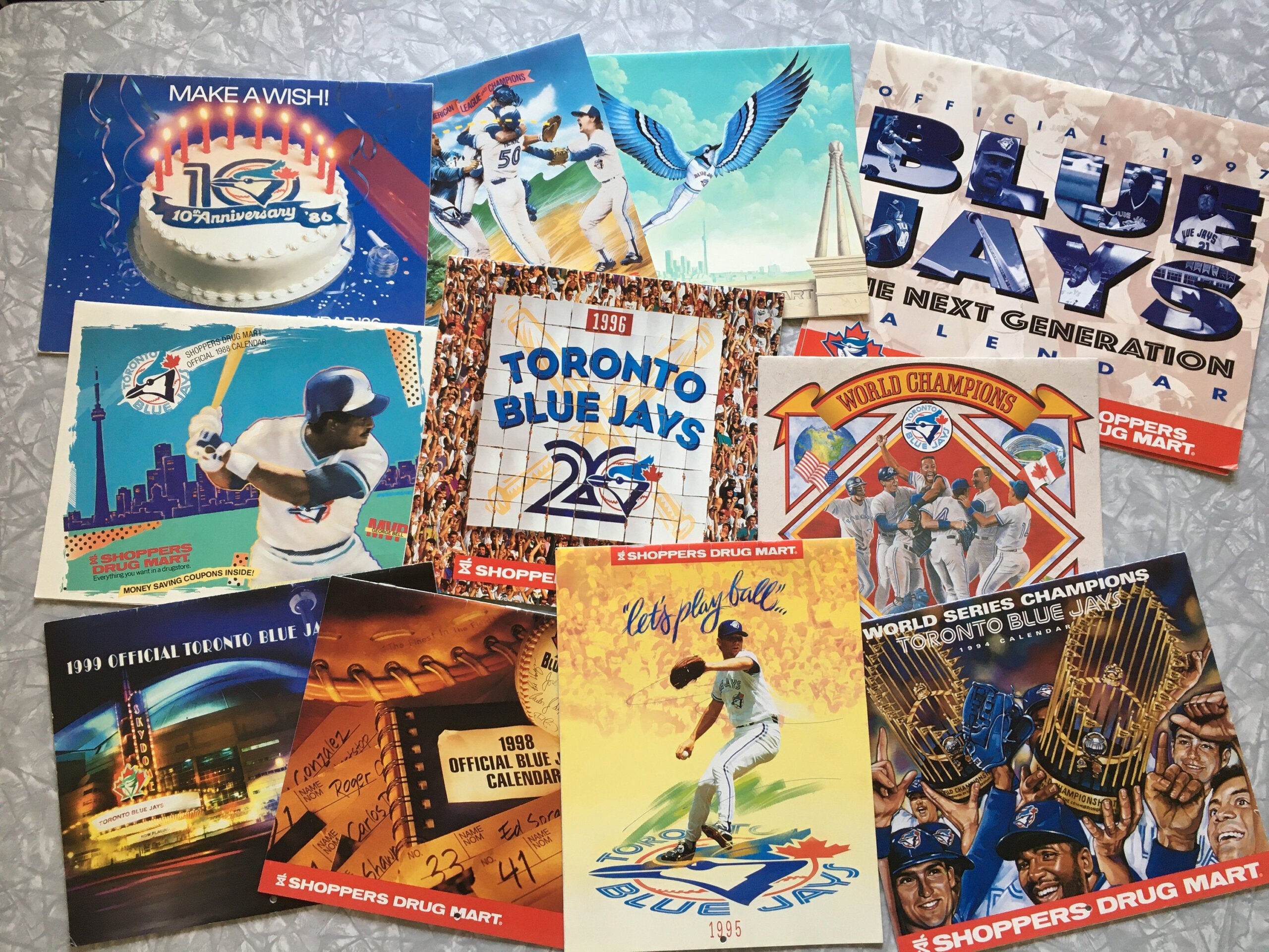 Lot Of 12 Official Toronto Blue Jays Calendar By Shoppers pertaining to Shoppers Photo Calendar