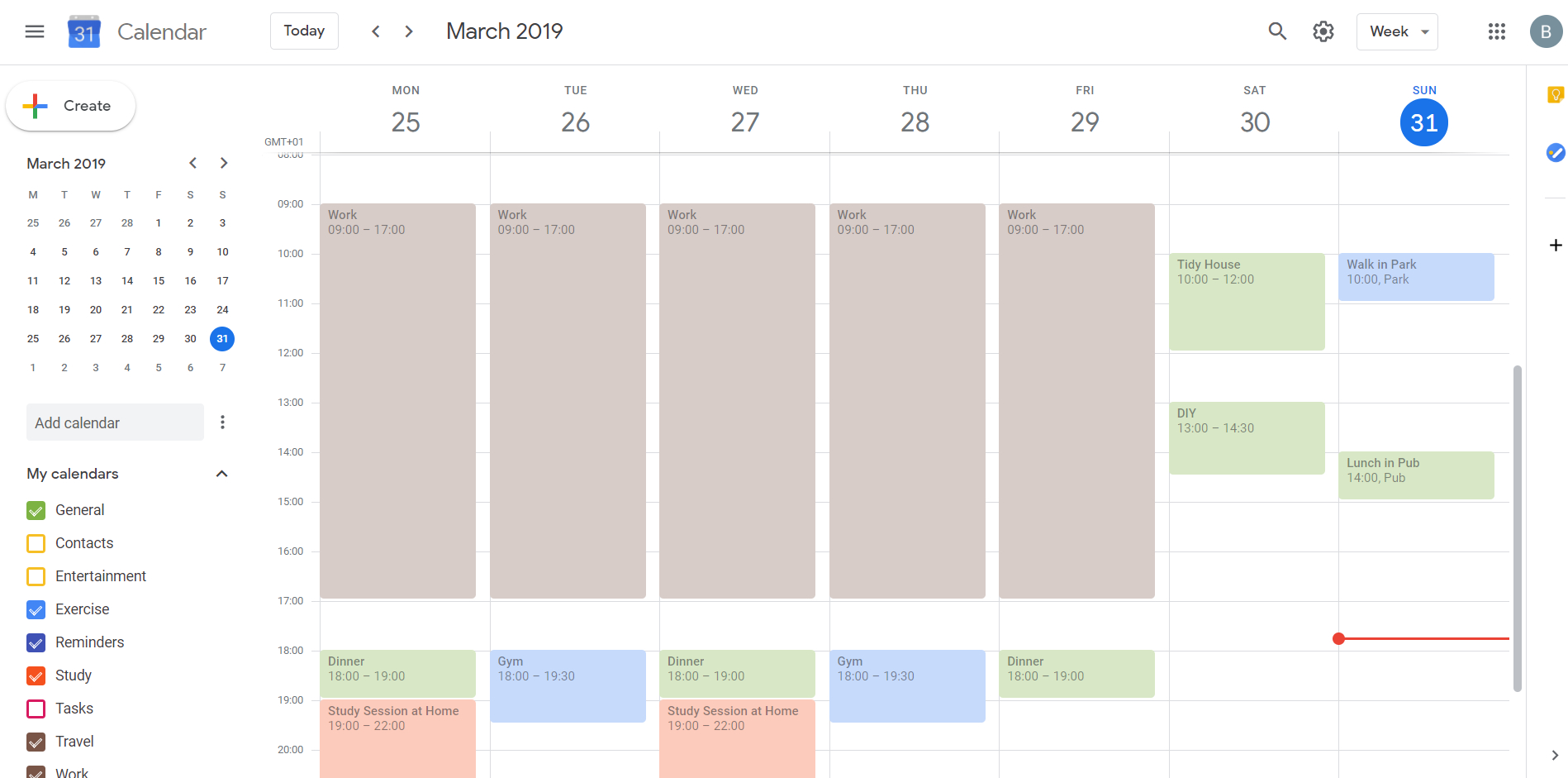 Managing Your Schedule With Google Calendar in 2 Week Calander