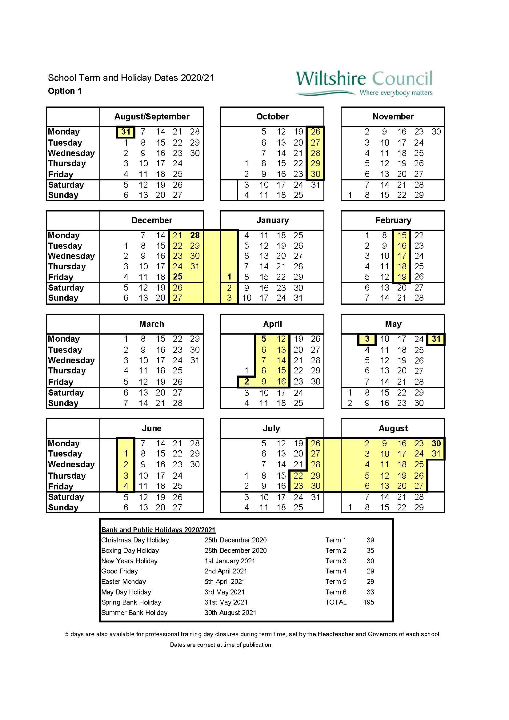 Matravers School  Terms And Holidays inside Matravers School Calendar