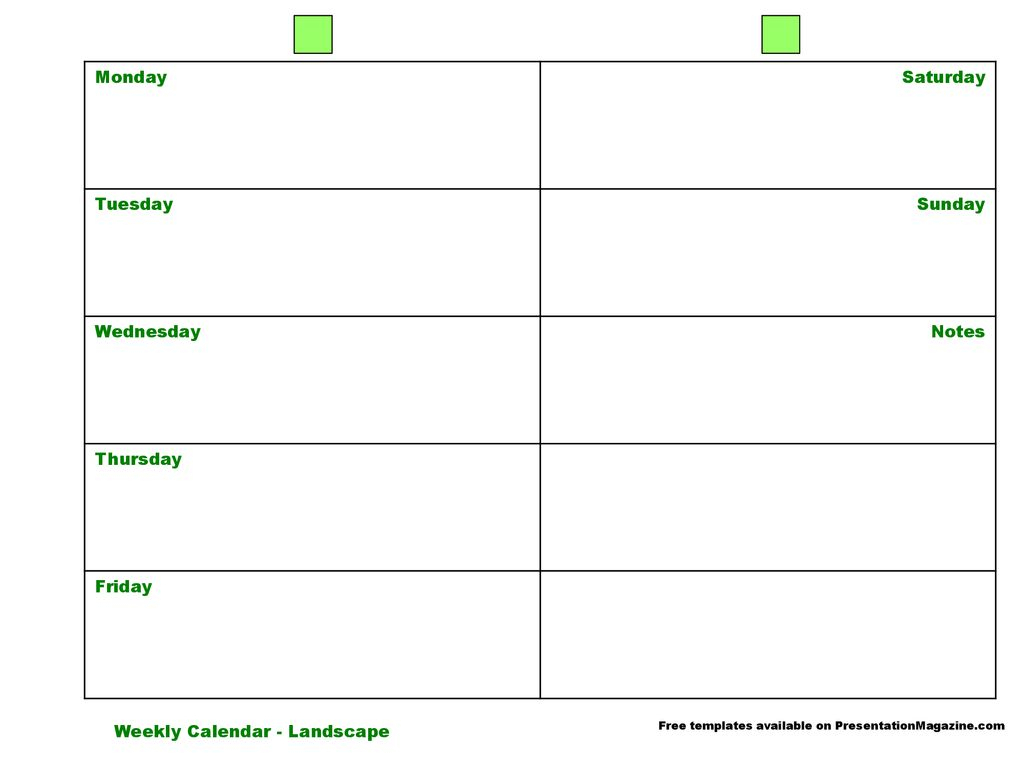 Monday Saturday Tuesday Sunday Wednesday Notes Thursday regarding Monday Through Saturday Calendar