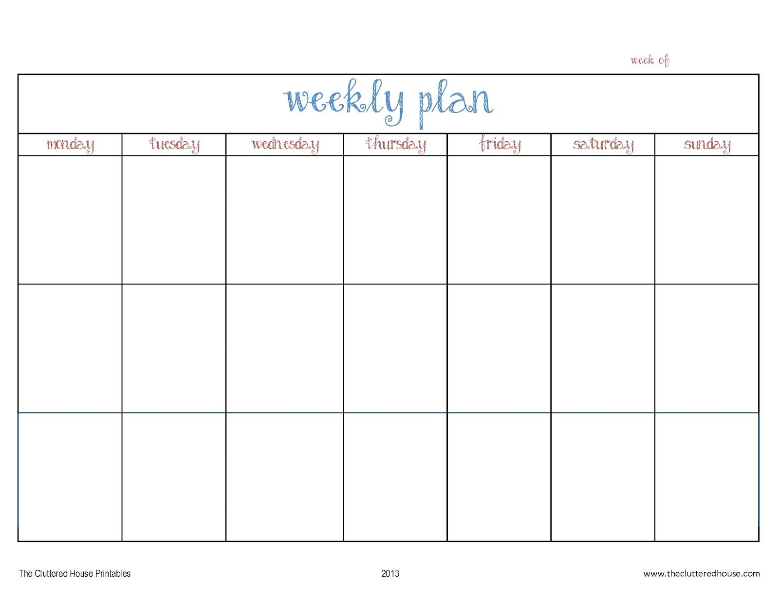 Monday To Friday Planner Template | Calendar For Planning intended for Monday Through Saturday Calendar