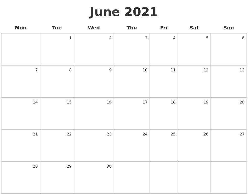Monday To Sunday Calendar 2021 Full Months – Pleasant For regarding Monday To Sunday Calendar