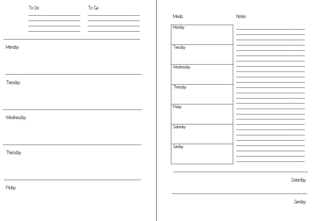 Mswenduhh Planning & Printable: Free Printable Inserts within Free Planner Refills Printable