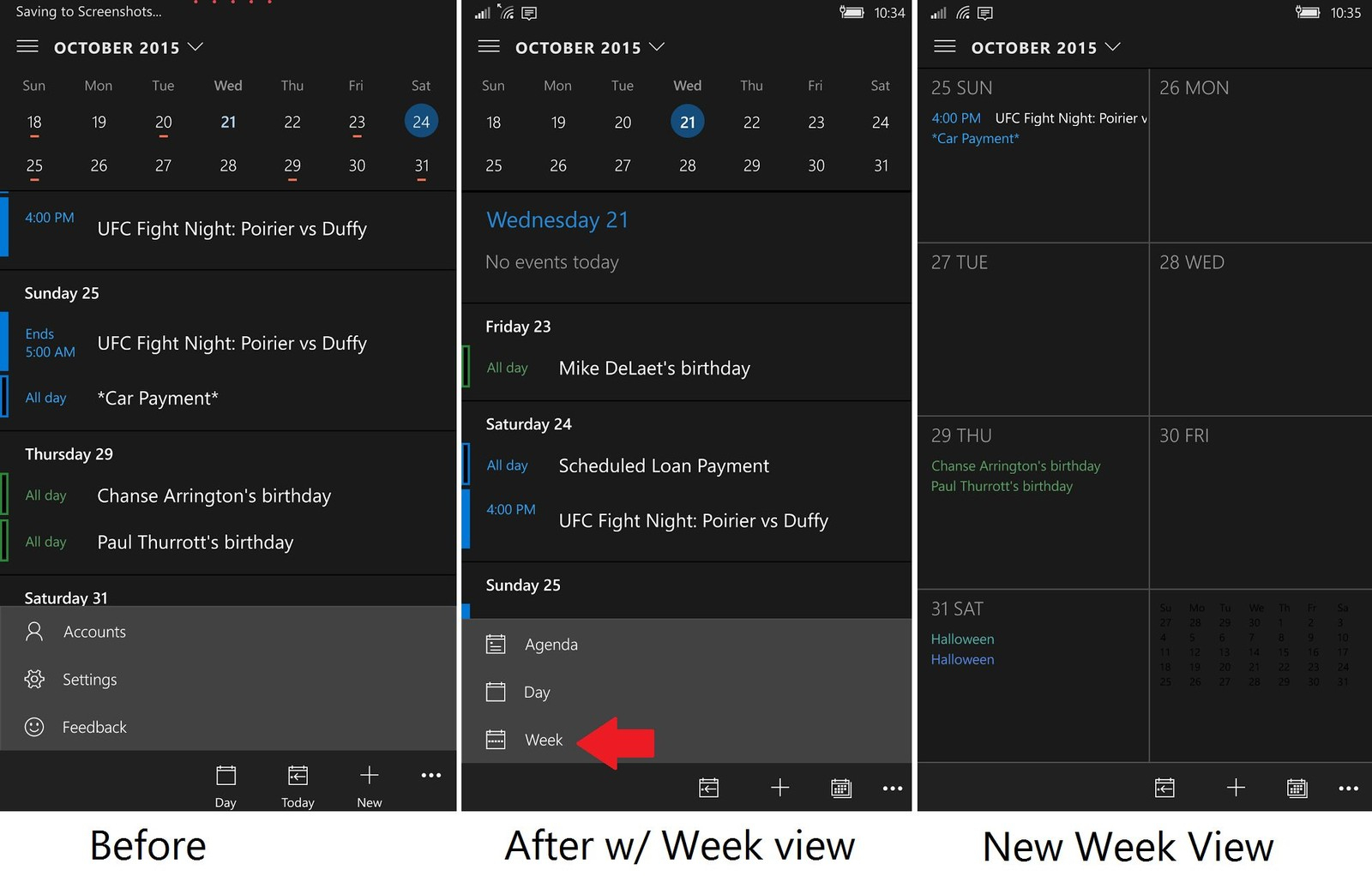 Outlook Mail And Calendar App For Windows 10 Pc And Mobile in Calendar Widget For Windows 10