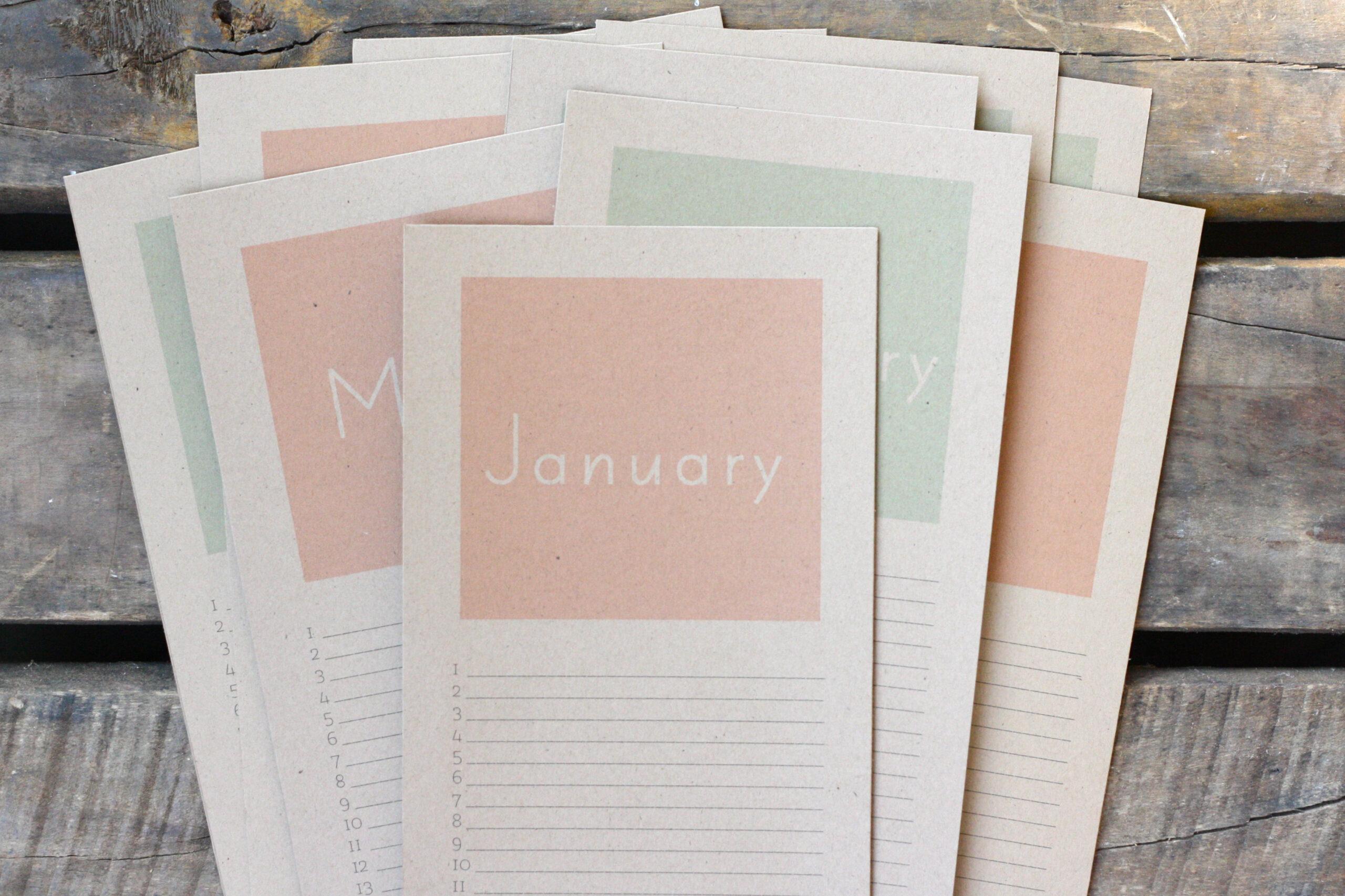 Perpetual Birthday Calendar {Free Printable!} | Rice Designs inside Free Perpetual Calendar Printable