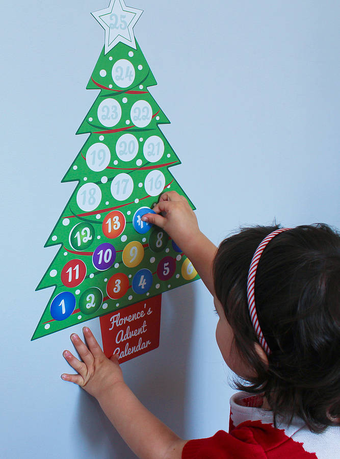 Personalised Advent Calendar Wall Sticker Set By Chickp with Holiday Stickers For Calendars