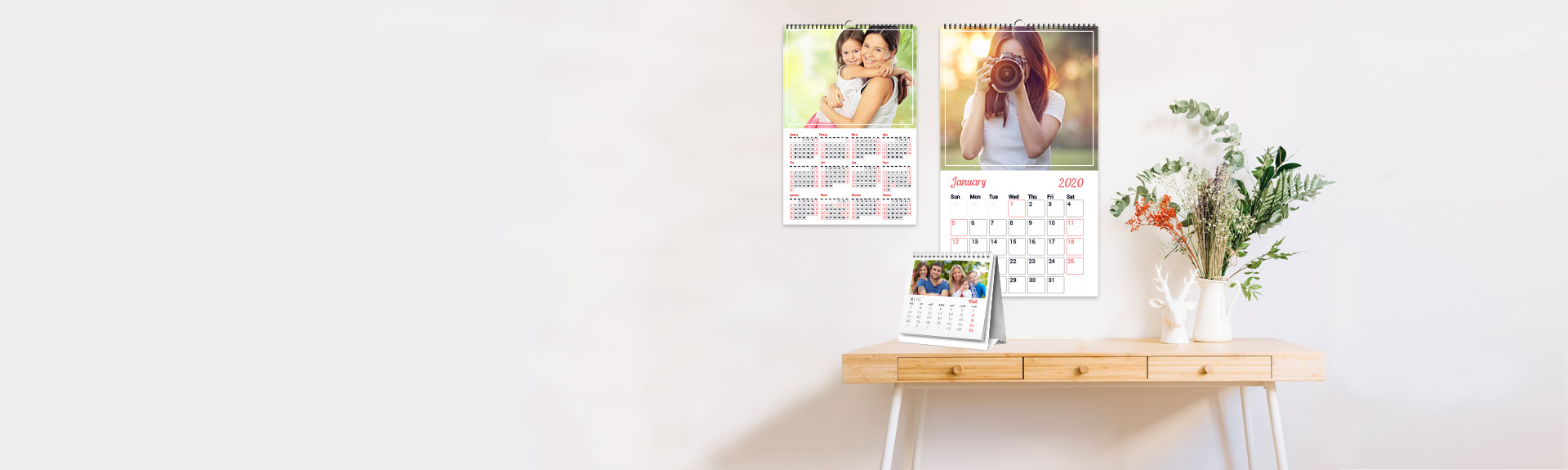 Personalized Photo Calendar Printing Online Canada | Canvaschamp with regard to Canva Calendar Maker