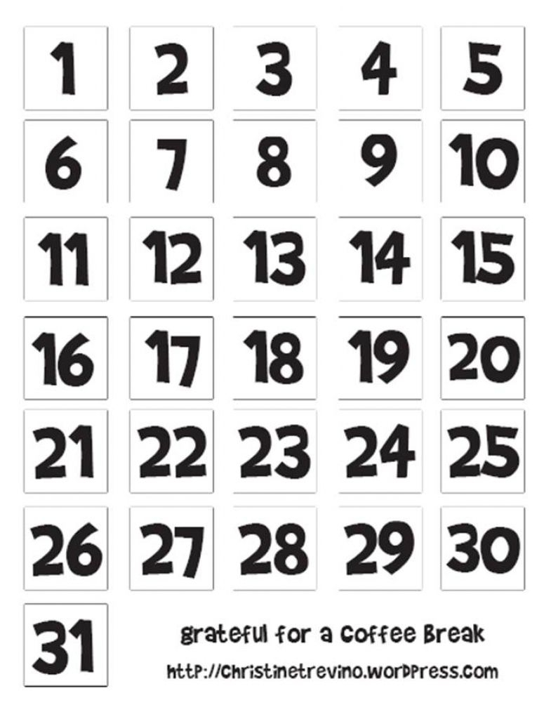 Pin On Calendar Numbers pertaining to Free Printable Calendar Numbers