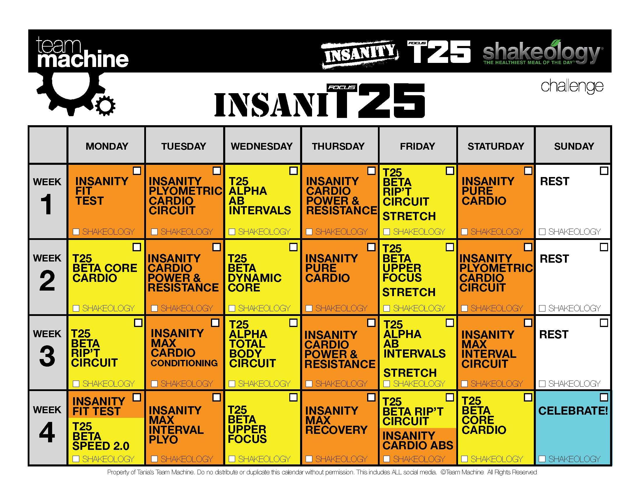 Pin On Fabulous Fitness Ideas & Quotes regarding Shaun T Hybrid Calendar
