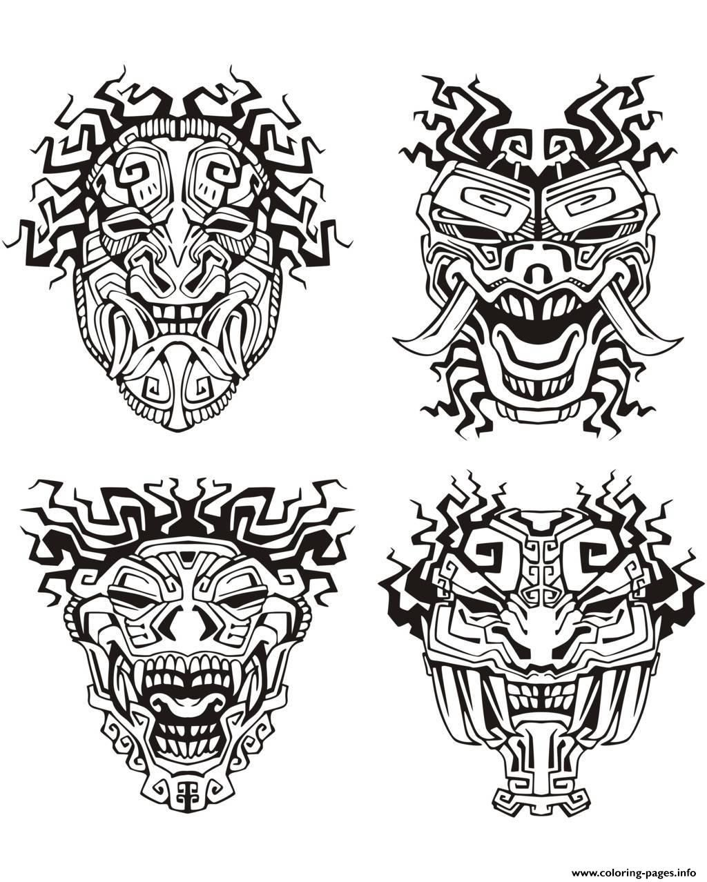 Pin On Mandalas And Abstracts within Aztec Mask Template