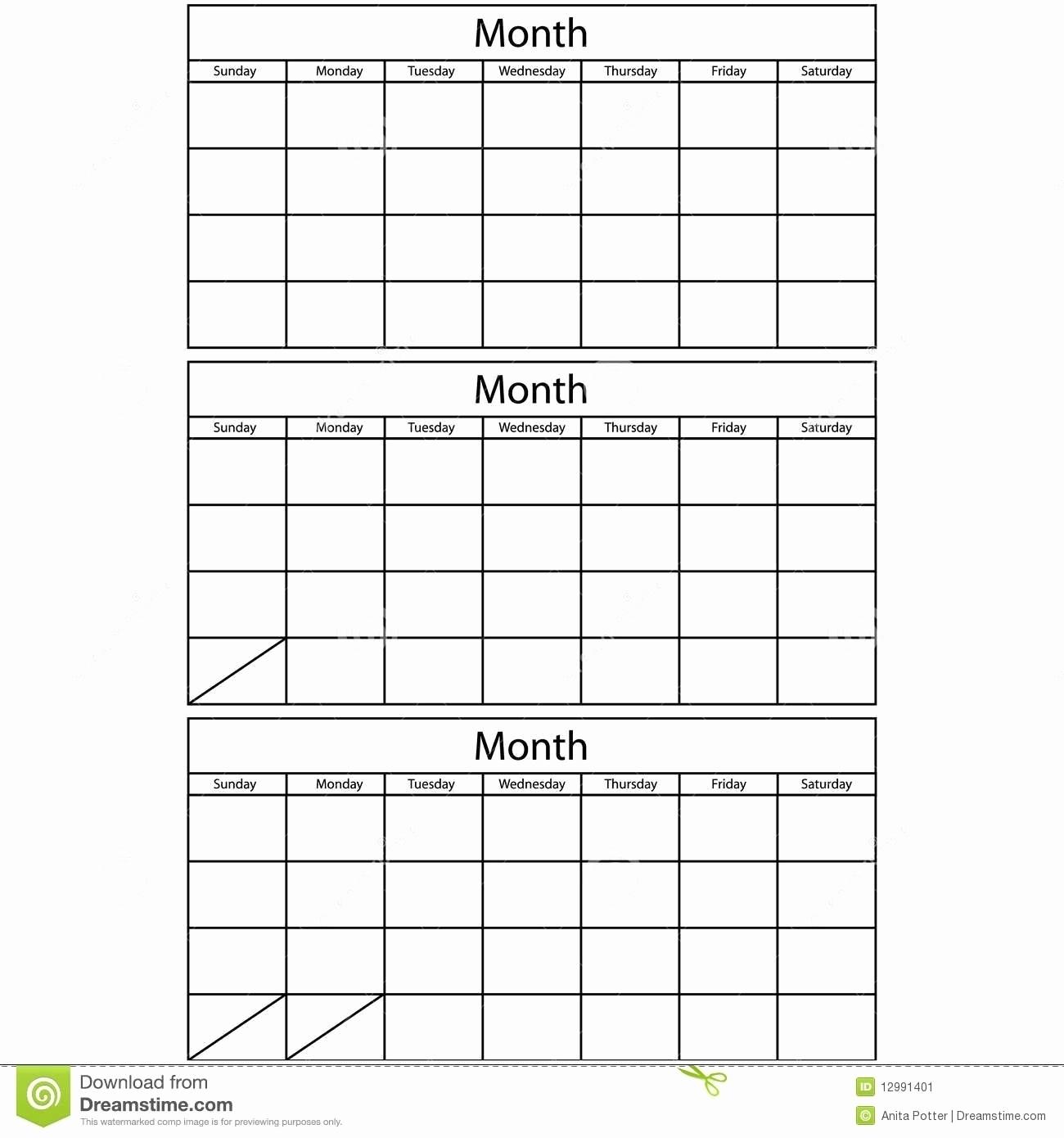 Printable 3 Month Calendar | Example Calendar Printable intended for 3 Month Blank Calendar Template