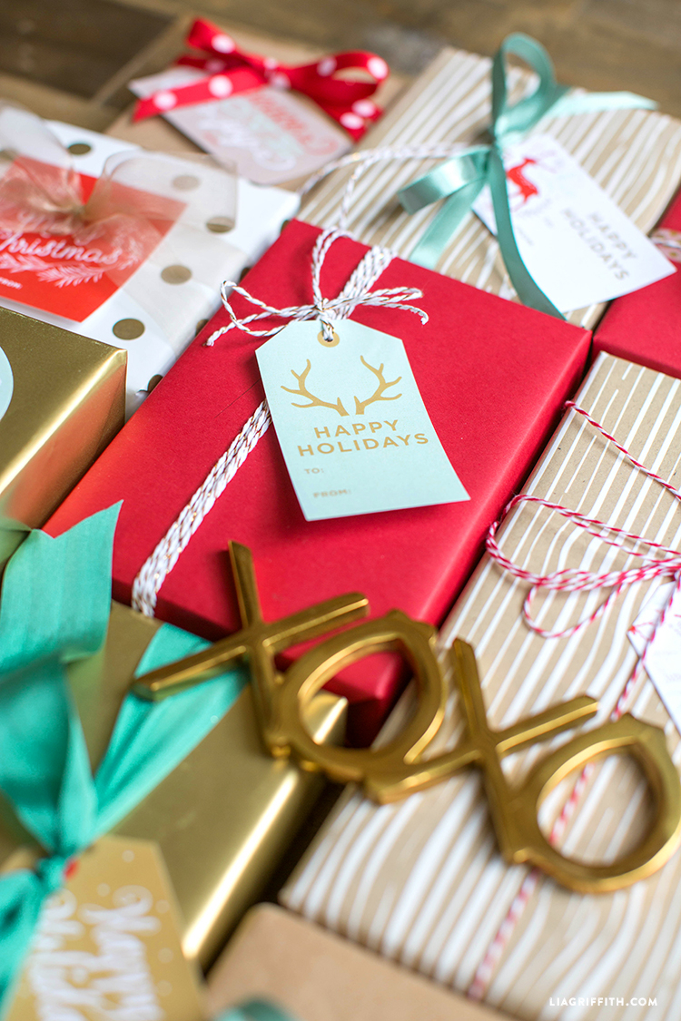 Printable Holiday Gift Labels & Tags By The Lia Griffith with Holiday Stickers For Calendars