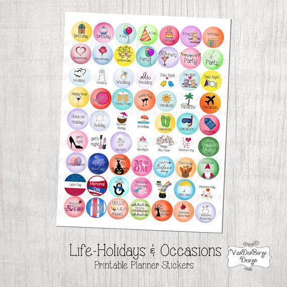 Printable Plannercalendar Stickers Lifeholidays regarding Holiday Stickers For Calendars