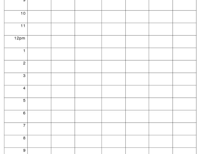 Printable Weekly Hourly Schedule Template … | Weekly inside Free Printable Hourly Calendar