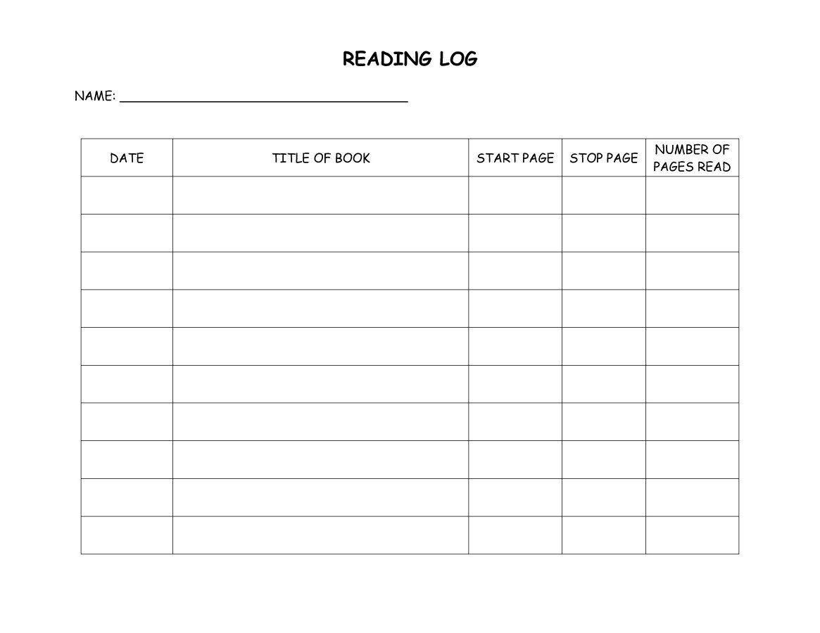 Reading Log Template 05 | Reading Log Printable, Reading inside Middle School Reading Log Template