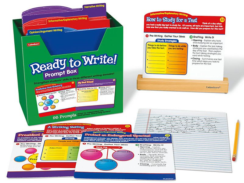 Ready To Write! Prompt Box  Gr. 4‑5 | Argumentative in Lakeshore Learning Writing Prompts